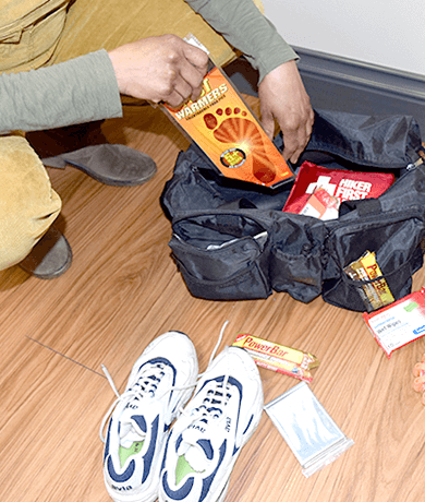 Photo: Packing a home emergency kit