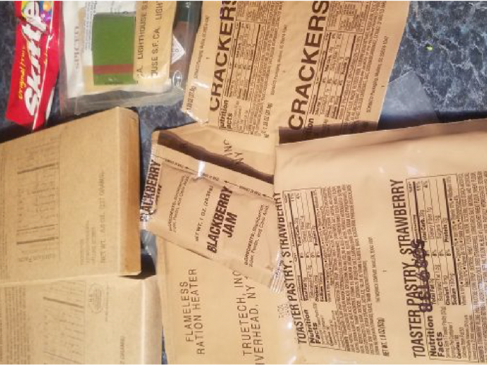 Photo of MRE's