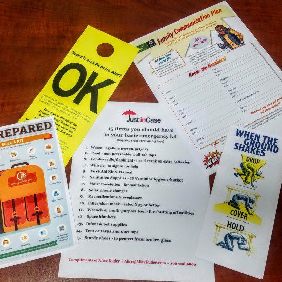 Display of emergency checklists
