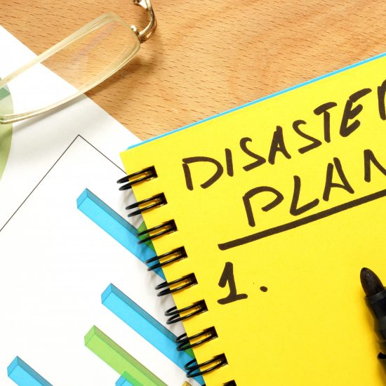 Notebook with a disaster plan
